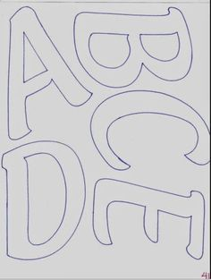 Abecedario de letras mayúsculas alargadas | Fomiart   LETRAS Y NUMEROS Free Printable Letter Stencils, Alphabet Templates, Printable Letters, Alphabet Code, Alphabet And Numbers, Letras Baby Shower, Scrapbook Borders, Felt Letters, Scrapbook Journal