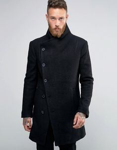 Religion   Religion Overcoat With Asymmetric Buttons
