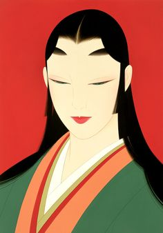 japan traditional beauty illustration