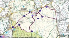 Map route for Kingston Lacy Holt Heath walk 6 mile moderate walk