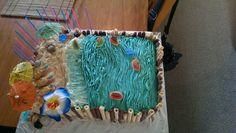 Hawaiian Luau themed birthday cake