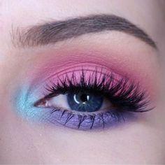 74 Gorgeous Eye Makeup Looks For Day And Evening - pink and purple eye makeup lo. - 74 Gorgeous Eye Makeup Looks For Day And Evening – pink and purple eye makeup looks - Purple Eye Makeup, Colorful Eye Makeup, Eye Makeup Art, Eye Makeup Remover, Eyeshadow Makeup, Makeup Brushes, Blue Eyeshadow, Makeup Cosmetics, Makeup Meme