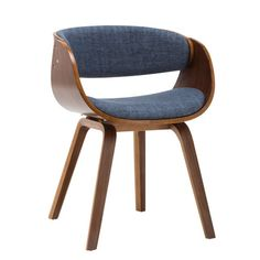 Polished Mid-Century design meets modern versatility in this Side Chair. Using classic Mid-Century craftsmen and modern sensibility, this piece features a solid wood frame, soft, upholstered stain-resistant fabric, carefully rounded legs, and a smooth bentwood frame to support your back and keep you comfortable. This versatile chair is essential for holidays, dinner parties, social gatherings, or as additional seating anywhere you need it.