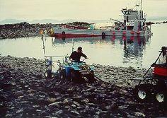 1989 August Exxon Valdez Oil Spill   US EPA Administrator Bill Reilly at the Exxon Valdez oil spill cleanup site.