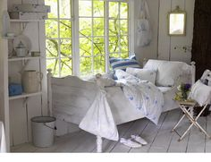 White Washed Country Bedroom