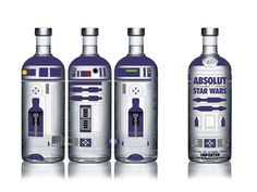 Although not my vodka of choice, I would drink this!  Absolut #StarWars #packaging