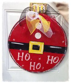 Christmas ornament door hanger christmas by Furnitureflipalabama Christmas Wood, Christmas Signs, Christmas Projects, Christmas Time, Christmas Door Decorations, Christmas Wreaths, Christmas Ornaments, Snowflake Ornaments, Christmas Wrapping