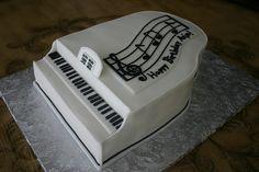 piano cake, cake batter
