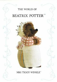 The World Of Beatrix Potter: Mrs Tiggy-Winkle (Knitting Pattern) by Alan Dart, http://www.amazon.co.uk/dp/B000OYZ4XK/ref=cm_sw_r_pi_dp_ZGMitb0Q1TP9V