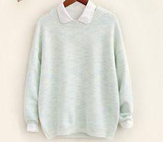 2017 Women Long Sleeve Loose Cardigan Knitted Sweater