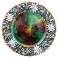 Check out this item at One Kings Lane! Majolica Passion Vine Wall Charger