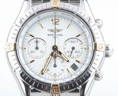 Breitling Men's Stainless Steel & 18k YG Cockpit Automatic Chronograph Watch #Breitling #LuxurySportStyles