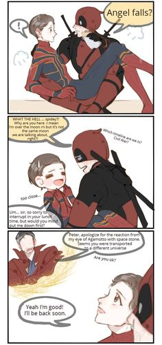 Ideas For Funny Marvel Comics Deadpool Baby Avengers, Avengers Comics, Marvel Jokes, Marvel Funny, Spideypool, Superfamily, Deadpool X Spiderman, Deadpool Funny, Superhero Family