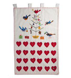 Handmade Wool Felt Bird Advent Calendar