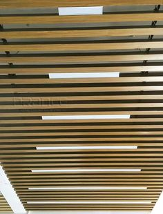 We offer a variety of styles and shades of wood grain, and the PRANCE brand's wood grain ceiling is clear and realistic. Both indoor and outdoor ceilings and walls of commercial buildings are suitable. Baffle Ceiling, Metal Ceiling, Ceiling Decor, Visual Effects, Building Materials, Wood Grain, Grains, Tube, News