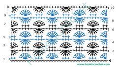 Catherine Wheel Stitch Design Crochet Chart Pattern created using the HookinCrochet Crochet Symbols Font Software