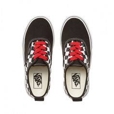 526166af1f Checkerboard Kids Vans The iconic Authentic style from Vans with the modern  addition of elastic laces