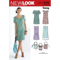 New Look 6022 Women's Dress & Bag Sewing Pattern
