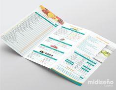 Brochure para Nutricionistas - Mi Diseño Web & Gráfico Costa Rica