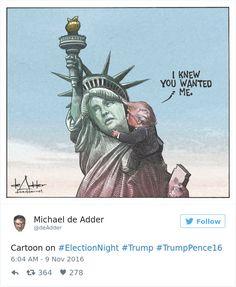 Les Réactions des Illustrateurs à l'Election de Donald Trump à la Présidence des Etats-Unis (5)