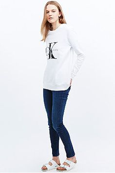 Calvin Klein Jeans Sweatshirt in White