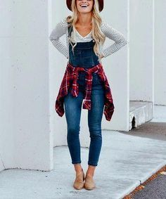 Take a look at this Dark Denim Overalls today! Denim Overalls Outfit, Long Overalls, Overalls Fashion, Overalls Women, Fashion Outfits, Outfits With Overalls, Fashion Ideas, Dungarees, Skinny Jean Overalls