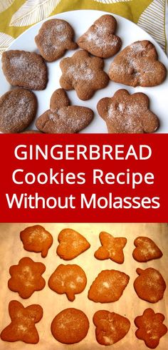 Easy gingerbread cookies recipe without molasses gluten free new york times chocolate chip cookies Gingerbread Cookies Recipe Without Molasses, Easy Gingerbread Cookies, Ginger Bread Cookies Recipe, Ginger Cookies, Ginger Cookie Recipe Without Molasses, Simple Gingerbread Recipe, Christmas Cookies, Molasses Cookies, Christmas Dishes