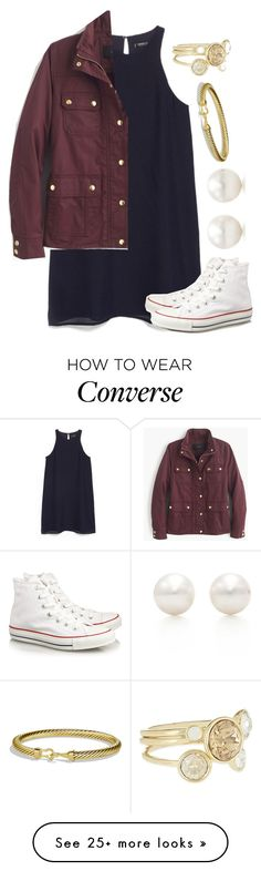 """Casual Dress"" by avamancuso on Polyvore featuring moda, MANGO, J.Crew, Converse, Tiffany & Co., David Yurman e Ted Baker"