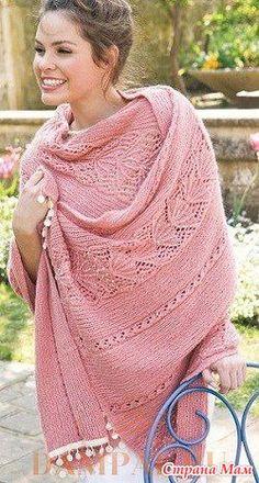 . Розовый шарф-стола - Вязание спицами - Страна Мам