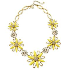 kate spade new york Gold-Plated Crystal and Yellow Stone Daisy Statement Necklace Kate Spade Necklace, Daisy Necklace, Yellow Necklace, Yellow Jewelry, Crystal Statement Necklace, Stone Necklace, Stone Jewelry, Crystal Jewelry, Fashion Jewelry Necklaces