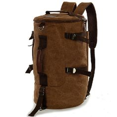 New Leather Canvas Backpack men's backpacks bags by FACEBAG, $34.00