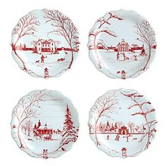 Juliska Country Estate Holiday Party Plates, Set of 4 | Bloomingdale's