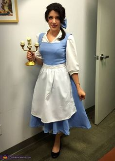 Marcelina: Both costumes are hand-made. Fun fact: The yellow Belle-dress was made from my old high school prom dress. It used to be pink so I dyed it yellow and added...