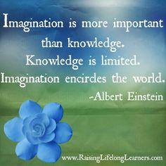 Albert Einstein Imagination Quote Printable via www.RaisingLifelongLearners.com