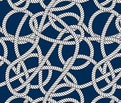 Nautical Navy Rope Pattern Repeat fabric by season_of_victory on Spoonflower - custom fabric