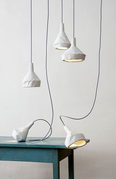 Like Paper lamp by Miriam Aust & Sebastian Amelung - Concrete and plumbing pipes