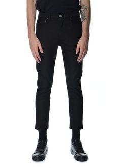 Acne Studios - Fall Winter 2015 - Menwear // Black jeans Town Stay Cash