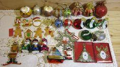 Lot of 32 Vintage  Christmas Tree Ornaments * Kurt Adler Hershey Kisses Glass…