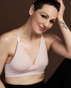 903e76f893 This soft pocketed bra with a plunge neckline is ideal for wearing during  radiation treatments or