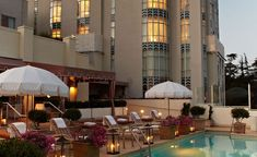 The Pool — West Hollywood Historic Hotel - Sunset Tower Hotel Hotels And Resorts, Best Hotels, West Hollywood Hotels, Hotel Sunset, Terrace Restaurant, Rooftop Terrace, Small Luxury Hotels, Landmark Hotel, Hotel Pool