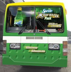 Bus Wrap designed during the launch of Sprite Xpress. This is the back side of the bus!