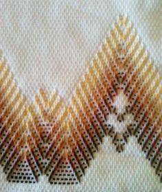 Huck Embroidery / Punto Yugoslavo / Swedish Weaving / Bordado Vagonite. Towel Design