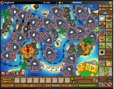 Playing Bloons Tower Defense 5 for fun #games #btd5 #fun