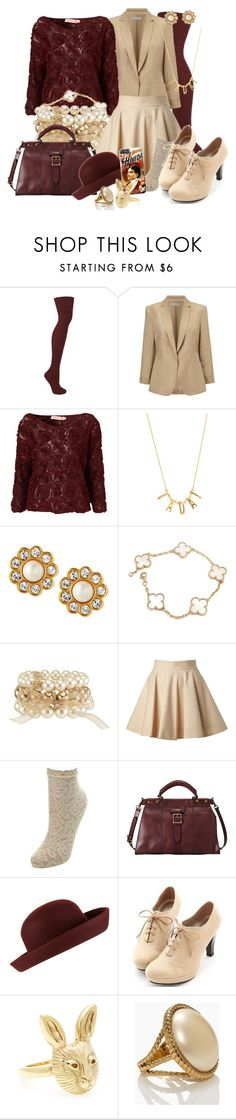 """The Final Scene"" by detectiveworkisalwaysinstyle ❤ liked on Polyvore featuring Whistles, Oh My Love, Kate Spade, Van Cleef & Arpels, RED Valentino, Miss Selfridge and Miss Dora"