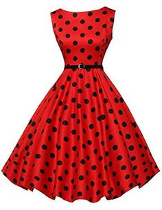 Women's Vintage Boat Neck Pin Up Girl Dress. Classic 50's Style Rockabilly, Pin Up Girl Dress MATERIAL: 96% Cotton + 4% Spandex, Comfortable for Skin Features: