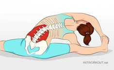 These pose helps stretch the lumbar quadrate muscle and relieve muscle pain in the back.