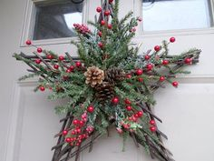 Simple But Beautiful Front Door Christmas Decoration Ideas 35 Among the easiest Christmas door decorating ideas is simply to get a few potted Christmas poinsettias and set close to […] Christmas Poinsettia, Christmas Swags, Rustic Christmas, Simple Christmas, Christmas Diy, Beautiful Christmas, Front Door Christmas Decorations, Holiday Wreaths, Outdoor Christmas Wreaths