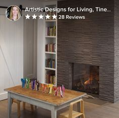 I love the stone on this fireplace! Would like to see this exact fireplace with lighter stone! Found image on houzz.com