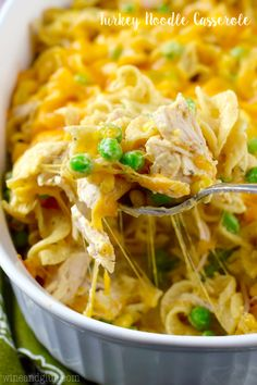 You know how much we LOVE 30 minute meals right? When you're looking for easy recipes for kids, quick and simple always wins, which is why we love this Turkey Noodle Casserole.