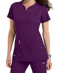 Shop for solid scrub tops in vibrant colors and comfortable styles at Scrubs & Beyond. We carry solid scrub tops made by all of the most trusted brands. Greys Anatomy Uniforms, Greys Anatomy Scrubs, Scrubs Outfit, Scrubs Uniform, Dental Uniforms, Cherokee Uniforms, Cute Scrubs, Womens Scrubs, Uniform Design